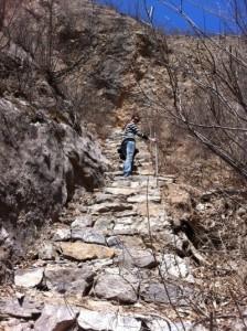 Amy Climbing up the Mountain