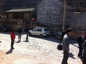 Chinese tourist snapping a picture of the Jincheng