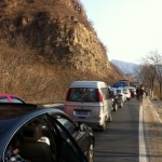 Traffic jam on the way back to Beijing