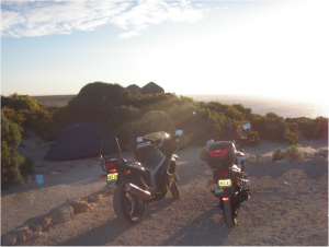 Camping by the road