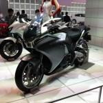 Honda bikes on display