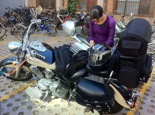 Packing up the bike for a long trip