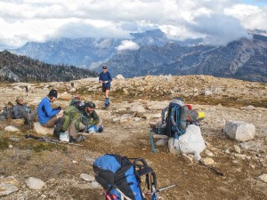 Simplicity itself- break time on the Pacific Crest Trail