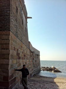 Where the Great Wall enters the sea